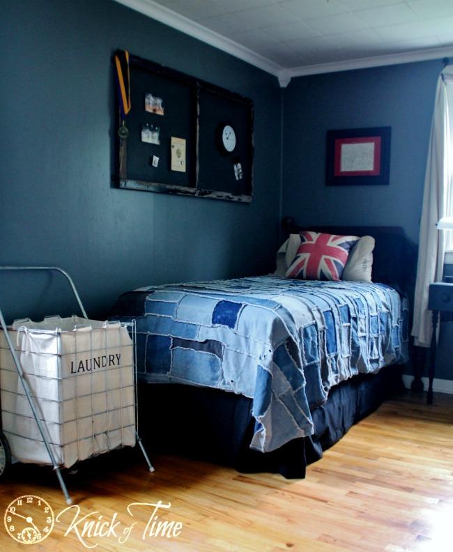 Repurposed jeans denim quilt - KnickofTime.net