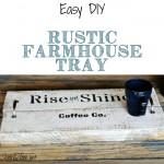 Easy Rustic Handled Coffee Tray