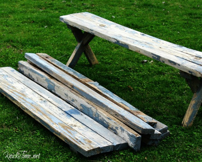 Reclaimed Wood For My Spring Entryway Knick Of Time - Barn wood picnic table