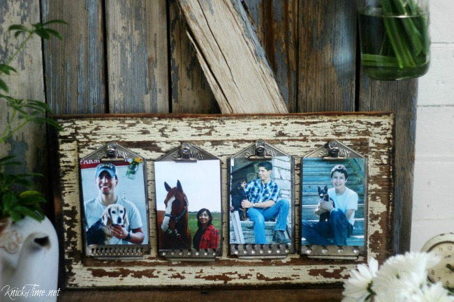 repurposed kitchen cheese graters photo display clipboards - Knick of Time