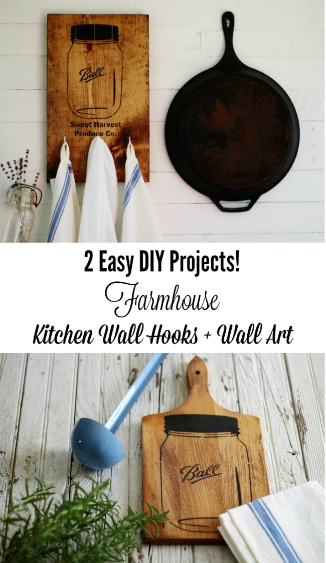 Two easy farmhouse decor projects you can make i a weekend! - KnickofTime.net