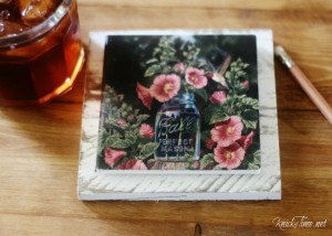 Chalk Spray Paint Review + Farmhouse Coasters