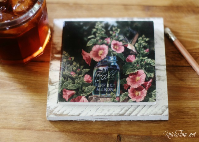 DIY farmhouse pallet and tile coasters - KnickofTime.net