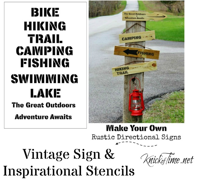Create your own rustic outdoors signs to show your love of camping, fishing, hiking, biking and more! | KnickofTime.net