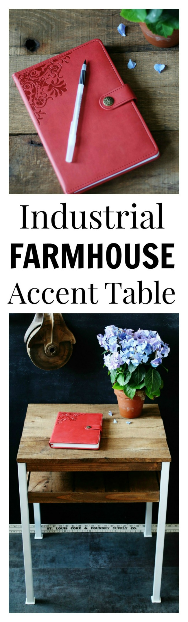 Painting, Pallet Wood and a Farmhouse Accent Table - KnickofTime.net
