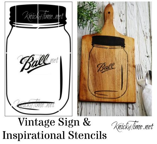 ball mason ja stencil by Knick of Time's Vintage Sign Stencils - KnickofTime.net