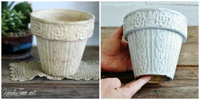 Updated thrift store flower pot - KnickofTime.net