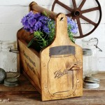 Mason Jars Stencils, DIY Wood Tote + Custom Stencils