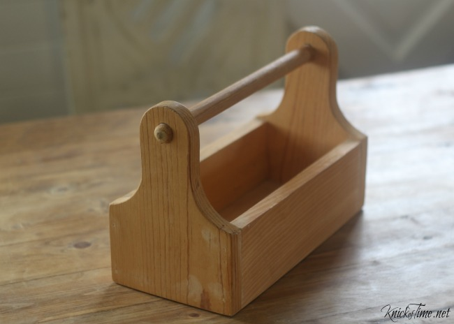 unfinished wooden tote carrier - KnickofTime.net