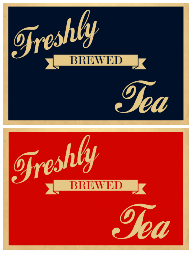 vintage fresh tea printables - Knick of Time