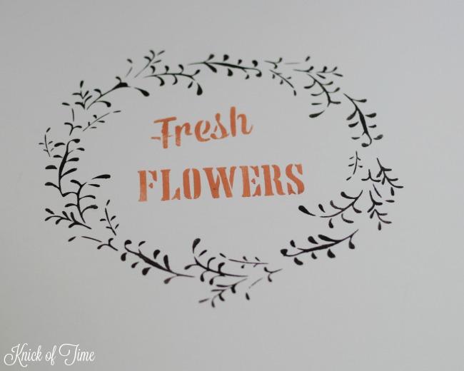 fresh flowers wreath stencil - KnickofTime.net