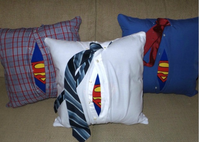 DIY Superman Pillow featured at Talk of the Town