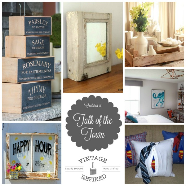 Featured at Talk of the Town| herb boxes, tulip crates,repurposed window and more - KnickofTime.net