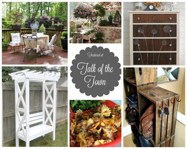 Recipes + upcycled, repurposed and DIY projects featured at Talk of the Town - KnickofTime.net