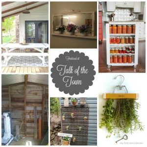 DIY projects, repurposed creations, room makeovers, home and garden projects and more at Talk of the Town - KnickofTime.net