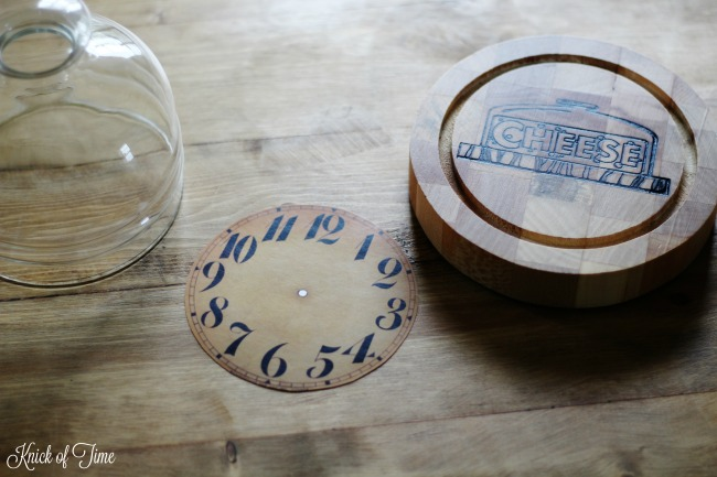 vintage clock face for cheese dome cloche - KnickofTime.net