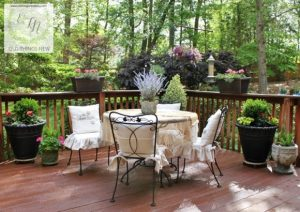 French Country Deck, Garden Arbor Bench + More: Talk of the Town # 18