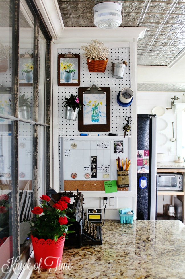Create a pegboard wall organizer that looks as pretty as it is functional! - KnickofTime.net