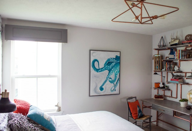 teen bedroom makeover featured at Talk of the Town - KnickofTime.net
