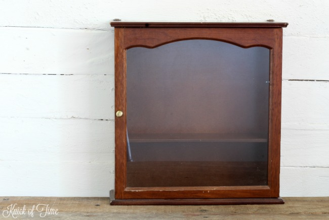 thrift store glass cabinet - Knick of Time
