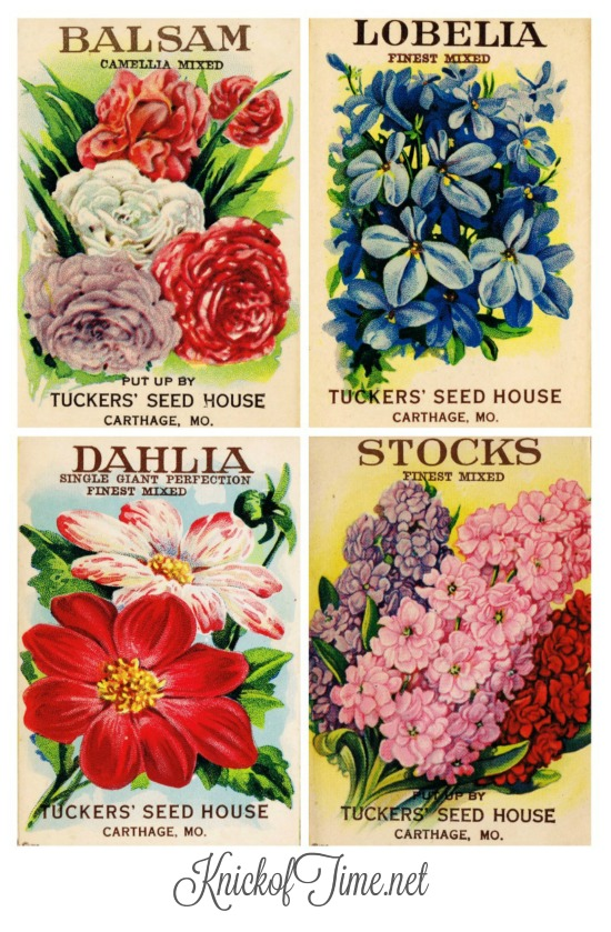 vintage seed packages free pritables - KnickofTime.net