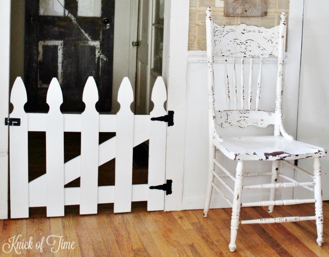 white picket fence pet or baby gate - Knick of Time