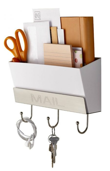 mail holder with key hook