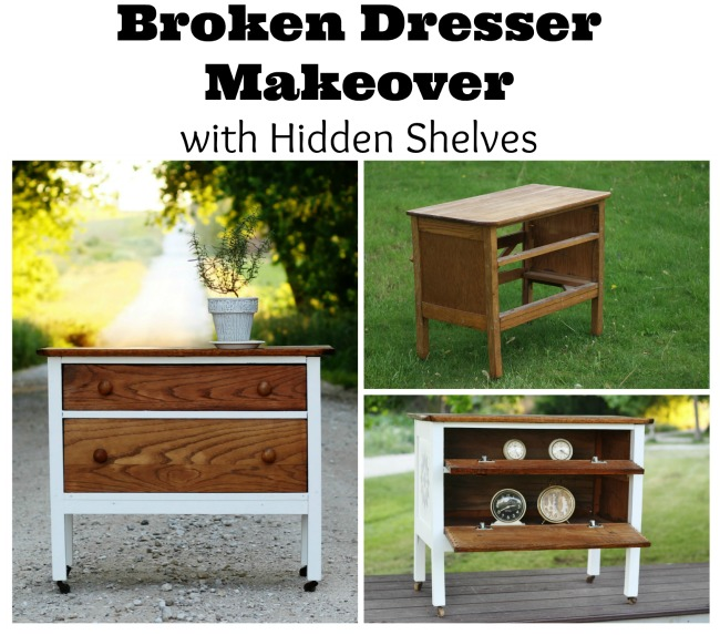 Once Upon a Time - the story of a Broken Dresser Makeover - KnickofTime.net