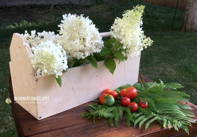 DIY birch wood tote