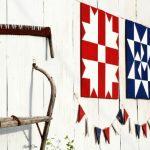 Rustic Farmhouse Patriotic Pennant Banner