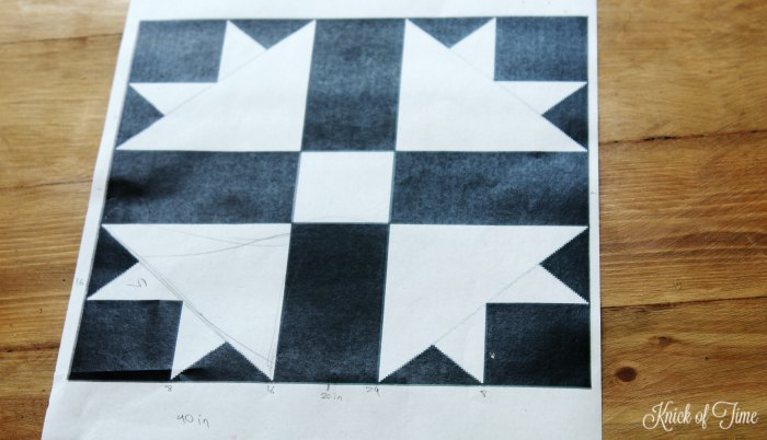 black and white quilt block pattern - KnickofTime.net