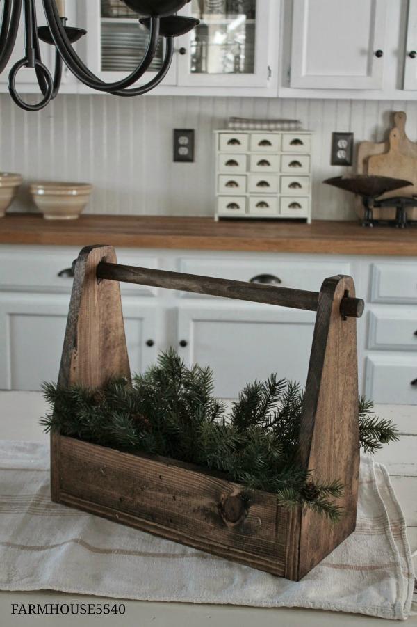 handmade wooden tote - farmhouse friday - KnickofTime.net