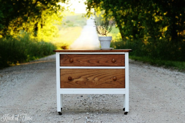painted white dresser - Knick of Time