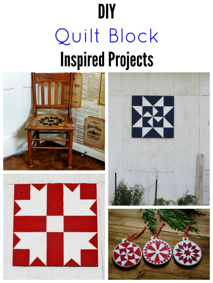 DIY quilt block inspired projects - KnickofTime.net