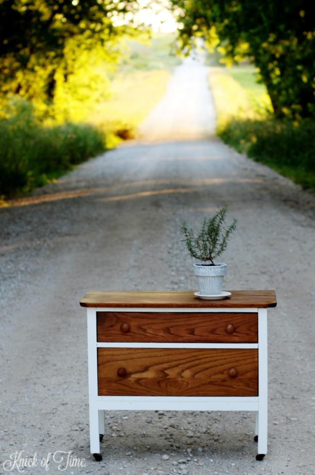 happily ever after furniture dresser makeover - KnickofTime.net