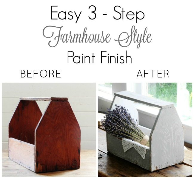 rustic farmhouse style paint finish