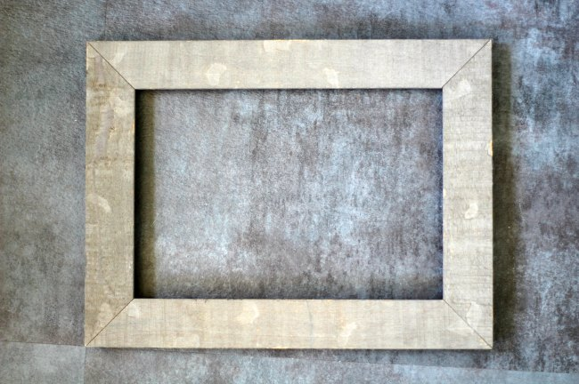 rustic wood photo frame