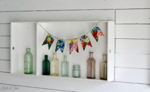 DIY flower seed packet chipboard pennant banner for summer decor - KnickofTime.net