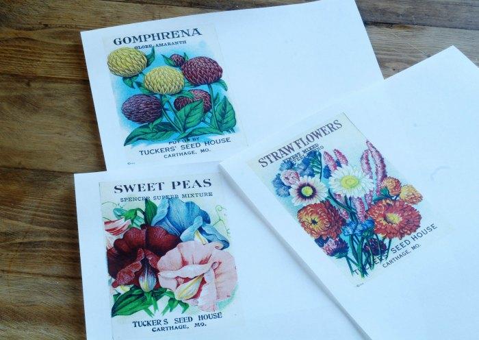 Free vintage seed packet printables - KnickofTime.net
