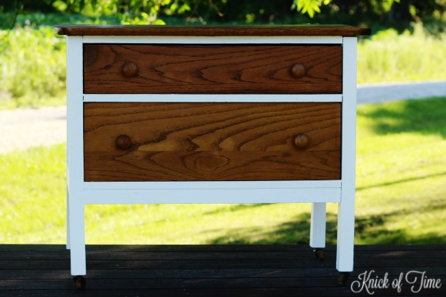 small dresser makeover - Knick of Time