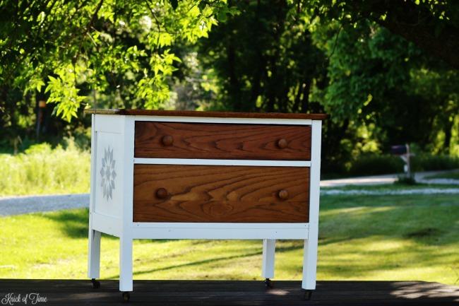 small oak dresser stenciled - Knick of Time
