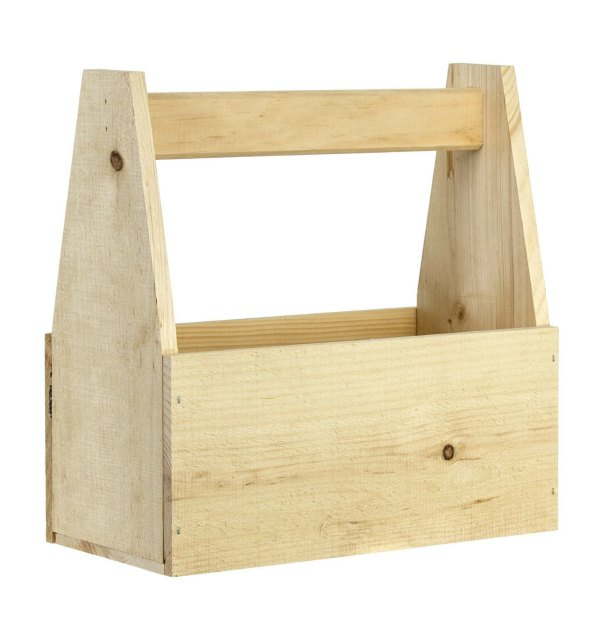 unfinished rustic wood wooden tote