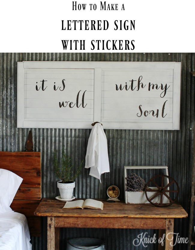 Diy Wall Art With Your Own Custom Message Knick Of Time