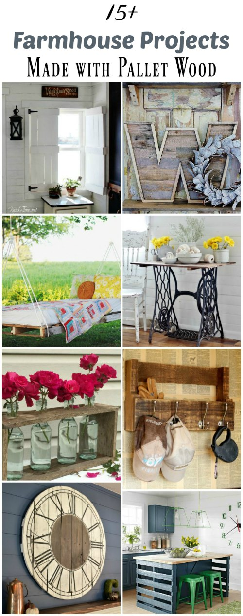 15+ Farmhouse Style Projects You Can Make with Pallet Wood - KnickofTime.net