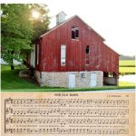 Old Barns – A Red One +  Aged Music Page Printable