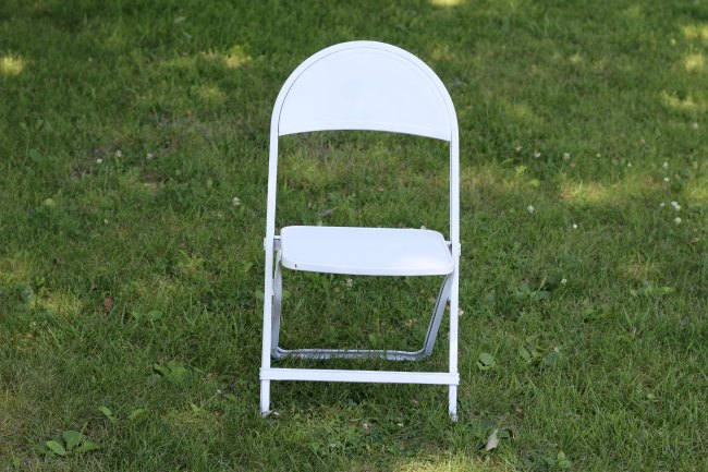 painted folding chair