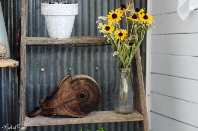 rustic ladder plant stand - Knick of Time