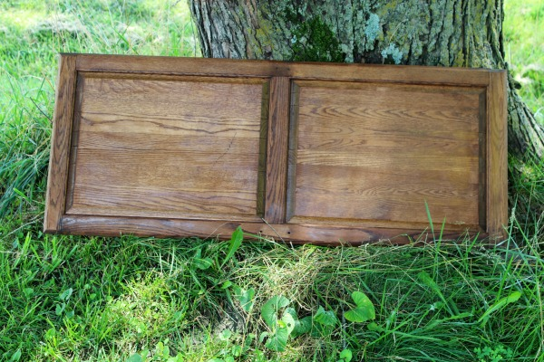 stained cabinet door