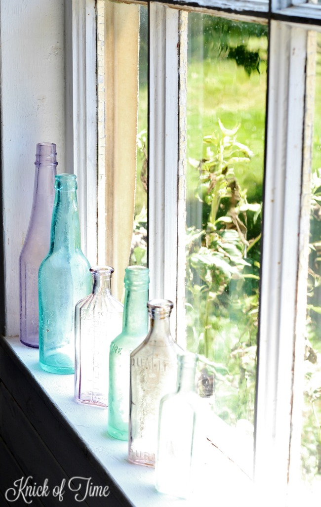vintage glass apothecary bottles - Knick of Time