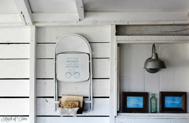 vintage repurosed folding chair farmhouse bedroom